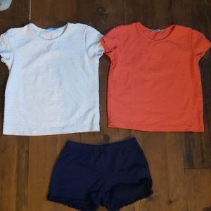 EUC J. McLaughlin bundle t-shirts and shorts
